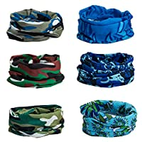 CICMOD 6PCS Headwear Outdoor Magic Headband Green CP9019usz