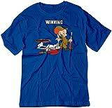 BSW Bunny Looney Tunes Elmer Shot de dibujos animados camiseta de azul azul real X-Small