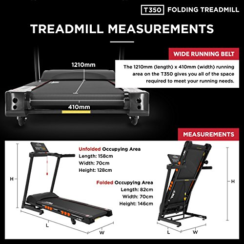 JLL-T350-Digital-Folding-Treadmill-2018-New-Generation-Digital-45HP-Motor-20-Incline-Levels03kmh-to-18kmh-20-Professional-Programs-Bluetooth-Speakers-2-Year-PartsLabour5-Year-Motor-Cover