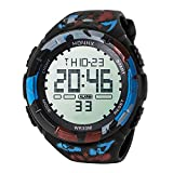 WMWMY Herren Sport Uhr Wasserdicht LED Digital Chronograph Double Impact Watch Time Watch Geschenk, Rot