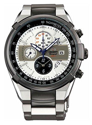 Orient 'Leader' Armbanduhr Sporty Chronograph Quarz 100m tt0j003W