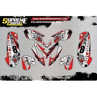 Supreme Graphix Kit Adhesivos Polaris Predator 500 Stickers ADESIVY