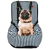 Dog Car Seat,Dog Booster Seat for Cars/Stripe Pet Travel Carrier Protector Cover