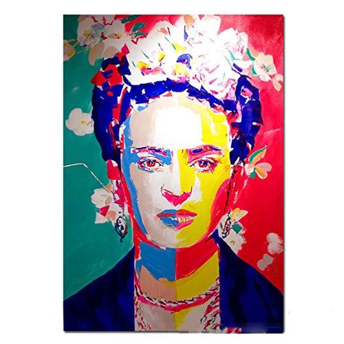 Cartel De La Impresión De La Lona De Frida Kahlo