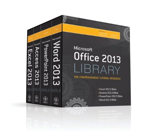 Office 2013 Library Excel 2013 Bible, Access 2013 Bible, PowerPoint 2013 Bible, Word 2013 Bible by Lisa A. Bucki (26-Jul-2013) Paperback