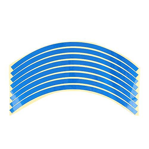 LINYANMY 8 STÜCKE Felge Reflektierende Streifen Für 10~20 Zoll Rad Auto Motorrad Reflektierende Aufkleber Aufkleber (Auto 20 Felgen)
