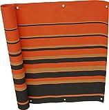 Angerer Balkonbespannung Dralon Nr. 200, Orange, 75 cm hoch, Länge: 6 Meter