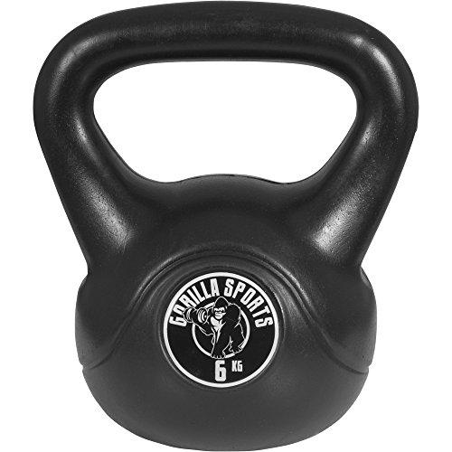 Gorilla Sports Kettlebell plastique avec logo 6 kg