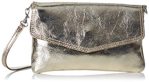 Bags4Less Damen Cameron Clutch, Gold (Gold), 3x13x21 cm (Gold Clutch Handtaschen Aus Leder)