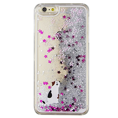 iPhone 7 Hülle Transparent,iPhone 7 Hülle Glitzer,iPhone 7 Case Slim,Schutzhülle Für iPhone 7 Hülle Transparent Hardcase,EMAXELERS 3D Kreative Liquid Bling Kristall Glitzer Hülle Case Für iPhone 7,iPh I Animal 4