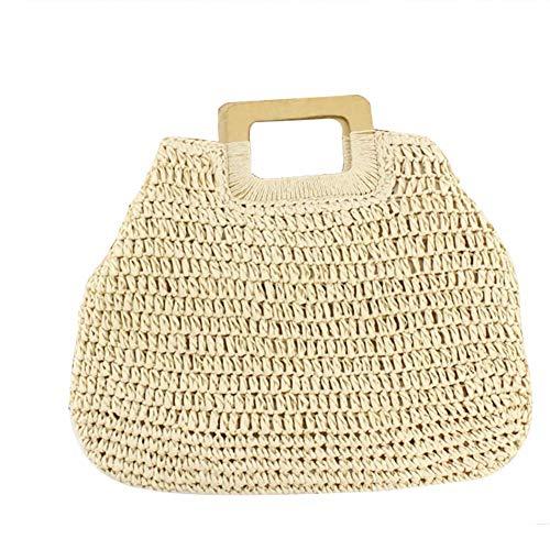 hballen Frauen handgewebte Stroh große Hobo Bag Retro Casual Handtaschen Strohballen großes Papier Seil gewebte Tasche für Strandreisen ()