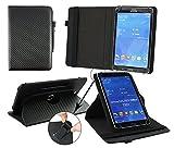 Emartbuy® Archos 101c Copper 10.1 Zoll Tablet Universal ( 9 - 10 Zoll ) Schwarz Carbon 360GradrotierendeStandFolioGeldbörseTascheHülle + Schwarz Eingabestift