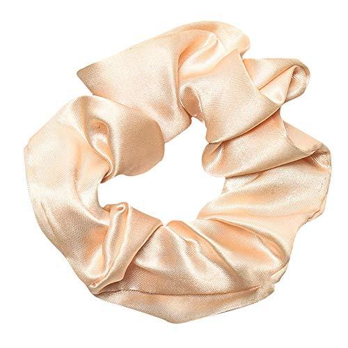 Haarbands,Sasstaids Trendy Lady Hair Scrunchie Ring elastische reine Farbe Bobble Sports Dance...