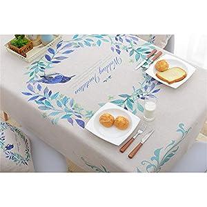 QWEASDZX Tischdecke Oilproof Antifouling Kleine frische Baumwolle und Leinen Tischdecke Rechteckige Tischdecke Geeignet für den Innen- und Außenbereich 140x140cm