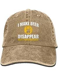 91c95a5672b uykjuykj Baseball Caps Hats I Make Beer Disappear Cotton Cowboy Cap Trucker  Cap Forman and Woman