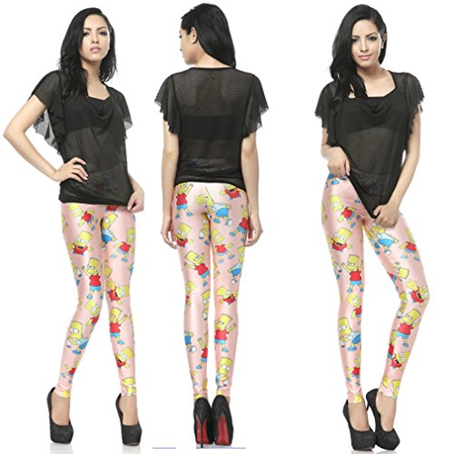 THENICE - Legging - Femme taille unique Cartoon characters