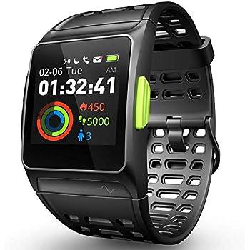 Roawon Montre connectée,Montre de Course GPS, Montre Intelligente Analyse de Fatigue Surveillance de