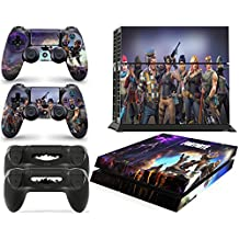 Gizmoz n Gadgetz PS4 Console FORTNITE Skin Decal Vinal Sticker + 2 Controller Skins Set