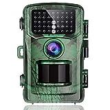 BEESCLOVER Jagdkamera 14 MP 1080P Wildlife Scouting Jagd Kamera Bewegungsaktivierte Nachtsichtkamera für Wildtiere Jagd Armeegrün