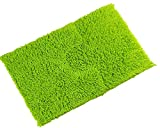 LUXURY THICK CHENILLE TWIST 100% COTTON LIME GREEN SOFT BATHROOM BATH MAT SET