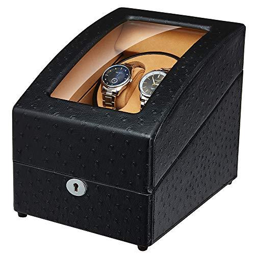 JQUEEN Automatischer Uhrenbeweger Dual Watch Winders 2+3 Storage Display Box Auto Rotation Uhrenbox
