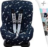 Schutzhülle Universal für Auto-Kindersitz Gruppe 1, 2 und 3 Janabebe® (Rock Hero)