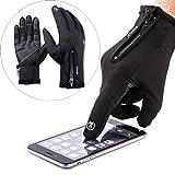 ROYCELONG Touchscreen Handschuhe, Doppelschicht Wasserabweisend Winter Handschuhe Fahrradhandschuhe Sport Handschuhe für Motorrad Snowboard Ski (M)
