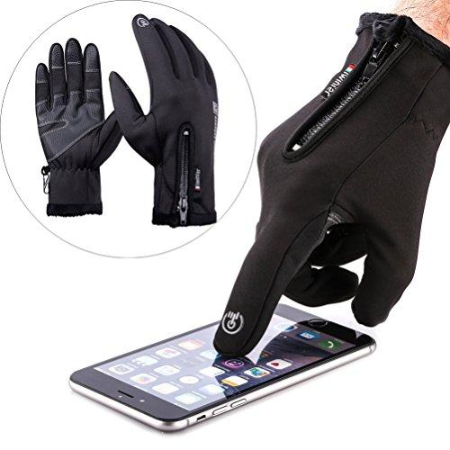 Touchscreen Handschuhe , Doppelschicht Wasserabweisend Winter Handschuhe Fahrradhandschuhe Sport Handschuhe für Motorrad Snowboard Ski (L)