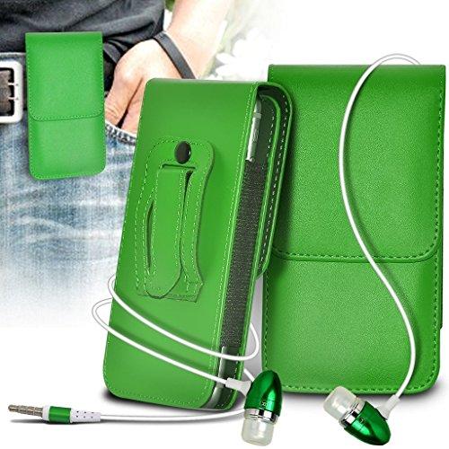 (Green) Nextbit Robin Hülle Abdeckung Cover Case schutzhülle Tasche Vertikale Kunstleder Gürtel Holster Pouch Abdeckungs-Fall & Aluminium Earphones ONX3®
