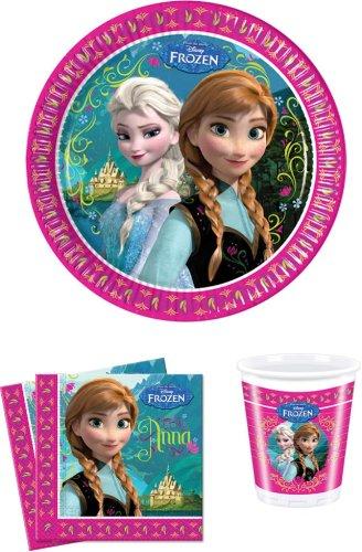 Disney Frozen Die Eiskönigin Partygeschirr - Partyset Becher Teller Servietten (Ostern Servietten Und Teller)