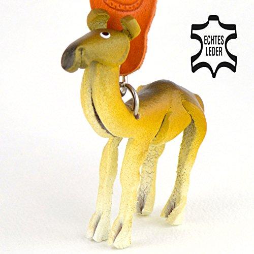 Kamel Zamel - Trampeltier Schlüsselanhänger Figur aus Leder in der Kategorie Kuscheltier / Stofftier von Monkimau in braun - Dein bester Freund. Immer dabei! - 5x2x4cm LxBxH klein, jeweils 1 (Kostüme Weihnachten Australien)