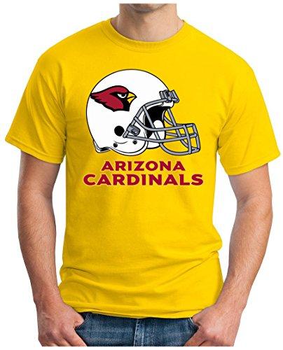 OM3 Arizona Cardinals - T-Shirt | Herren | American Football Shirt | Super Bowl 52 LII | NFL | S - 5XL Gelb