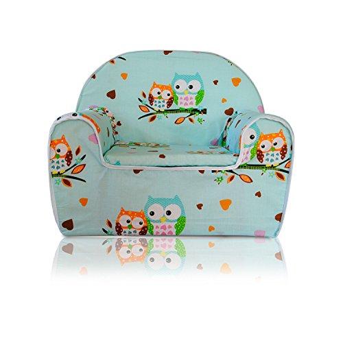 Kindersessel Kinder Sessel Kindersofa Kinder Sofa (07 Eule-Mintgrün)