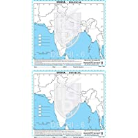 Political Physical Outline Map Of India- English Language|Combo Pack Of 100 Maps|50 POLITICAL 50 PHYSICAL MAPS|Set For…