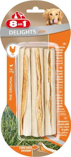 8in1 Delights Kausticks (gesunder Kausnack für Hunde von 2 bis 35 kg, hochwertigem Hähnchenfleisch), 3 Stück (75 g)