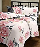 #3: Cloud Mart Peach Floral Design Reversible Double Bed Quilt/AC Blanket/Dohar