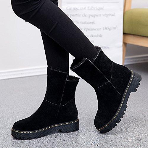 FLYRCX La sig.ra d'inverno con un velluto scarponi da neve spessa di slittamento scarpe caldo A