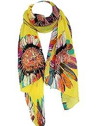 Abstrakt Blumenmuster Plüsch Fein Seide Stola Schal Gewickelt Hijab Kopf Schal