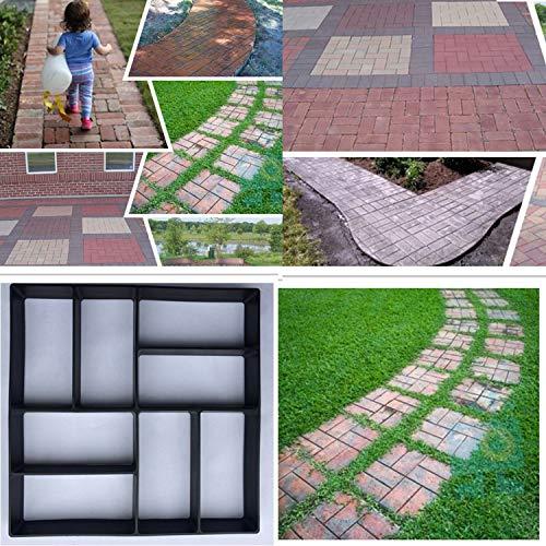 DIY Patrones Irregulares/rectangulares Pavimento Personalizado Hormigón Ladrillo Piedra Jardín Decorativo Exterior Césped...