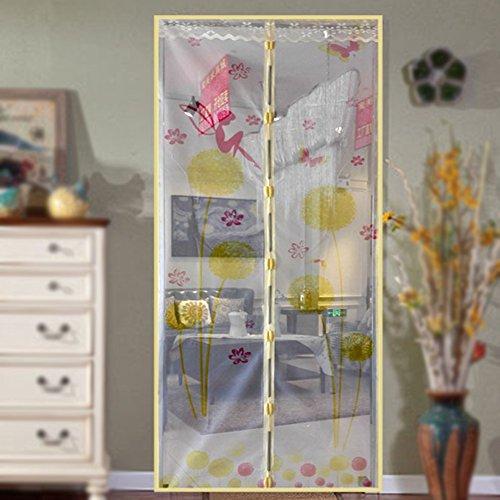 Zanzariera magnetica per porta, dandelion modello magnetico fly insect door screen dello schermo mesh tenda fits, porta magica tenda porta mesh 90*210 beige