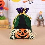 Gaddrt Süßigkeitentasche, Hexen-Motiv, Halloween-Verpackung, ideal für Kinderpartys, Aufbewahrungstasche