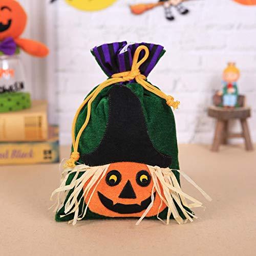Gaddrt Süßigkeitentasche, Hexen-Motiv, Halloween-Verpackung, ideal für Kinderpartys, ()