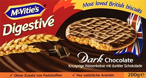 McVitie's Digestive Dark Chocolate 200 g, 5er Pack (5 x 200 g)