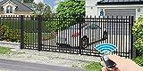 Luxus4Home Nizza 5,30m Doppelflügeltor Set AUTOMATIK Doppelflügeltor 4,00m Durchfahrt inkl. Pforte 1,04m exklusive Gartenzaunelement Komplett-Set inkl. Motor, 2 Fernbedienungen, 2 Torflügel, 3 Pfosten