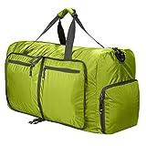 Sailnovo Leichter Faltbare 85L Reise-Gepäck Duffel Taschen weekender Übernachtung Taschen Sporttasche für Sport Reisen Gym Urlaub (Hellgrun)