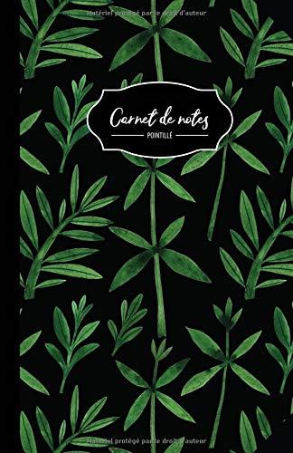 Carnet De Notes: 108 Pages Avec Papier Pointillé 5mm - Petit Format A5 - Couverture Souple Et Mate - Noir Et V