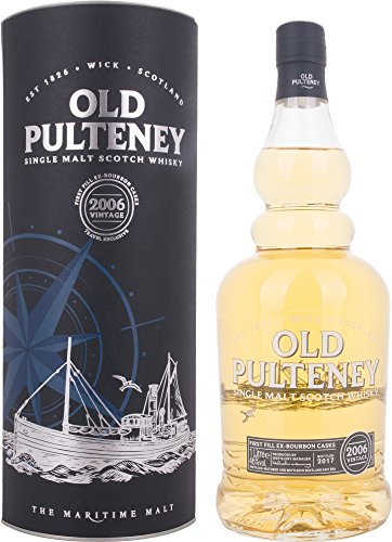 Old Pulteney VINTAGE The Maritime Malt mit Geschenkverpackung 2006 Whisky (1 x 1 l) -