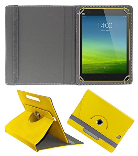 ACM ROTATING 360° LEATHER FLIP CASE FOR XIAOMI MI-PAD 8 TABLET STAND COVER HOLDER YELLOW