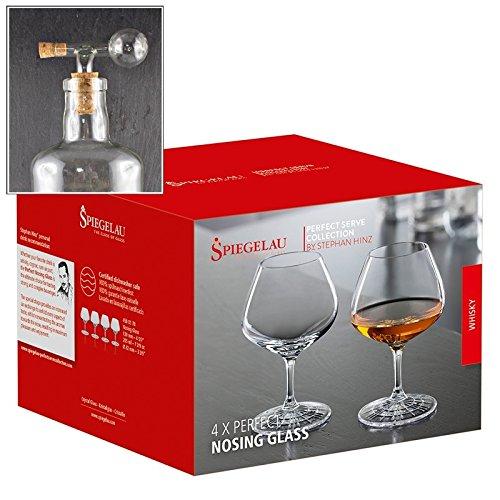 Spiegelau Perfect Nosing Glas Rum 4er Set mit Flaschenportionierer aus Echtglas, kostenloser Versand