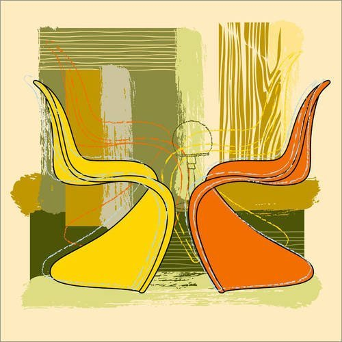 Posterlounge Holzbild 120 x 120 cm: Panton Chair 01 von Thomas Marutschke